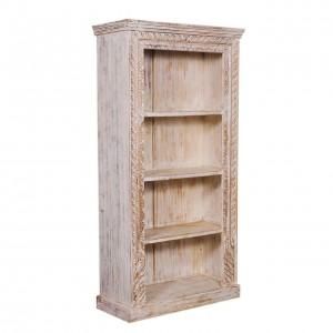 Imbler Rustic Reclaimed Wood 4 Open Shelf Standard Bookcase