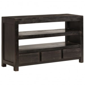 AVALON Solid wood 3Drawer & 2Shelf Tv Unit Black