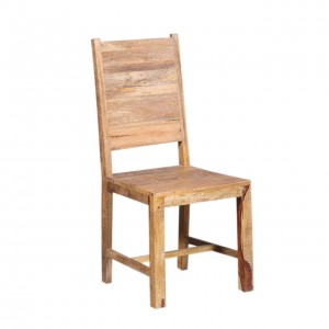 Nirvana Handcrafted Reclaimed Wood Dining Chair Natural