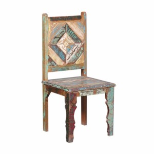 Theresa Distressed Reclaimed Wood Handcrafted Dining Chair