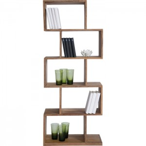 Boston Silver Contemporary Solid Wood Zig Zag Bookshelf Display Shelf 180cm