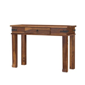 Terrarum Rustic Solid Wood Console Hall Table with Drawer