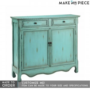 Contemporary Solid wood Sideboard Blue