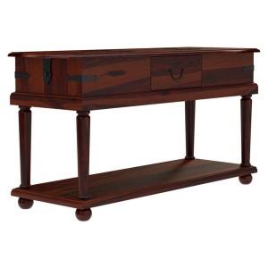Kokanee Rustic Solid Wood 2 Tier Entryway Console Hall Table