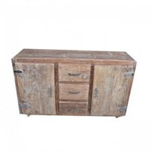 Cromer Mango Wood Fridge Door Sideboard Buffet Hutch Large with 2 Doors