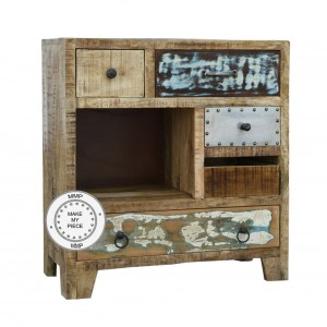 Lava Industrial Solid Wood Sideboard small chest of drawers