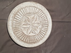 Indian Antique Tribal Hand Carved  Art Solid Wooden Decorative Plate   22x22x2cm