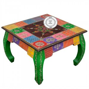 Pandora Hand Painted Indian Opium Colored Coffee Table
