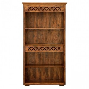 Addison Hand Carved Large Bookcase with 1 Drawer