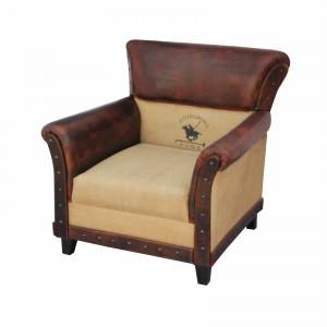 Charleston Polo Aged Leather Armchair