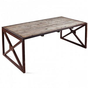 Angle Industrial Rustic Coffee Table Natural 120x60cm