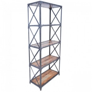 Angle Industrial Large Bookshelf book stand Natural 80cm