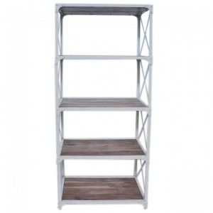 Angle Industrial Large Bookshelf book stand White 80cm