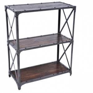 Angle Industrial Small Bookshelf book stand Chocolate