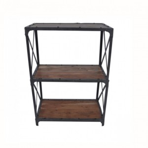 Angle Industrial Small Bookshelf book stand Natural