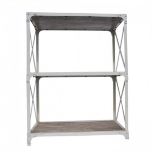 Angle Industrial Small Bookshelf book stand White