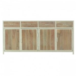 Angle Industrial Solid wood & Metal Sideboard XL 180-220cm