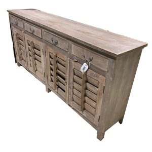 Hand Crafted Louvre Style Shutter Sideboard