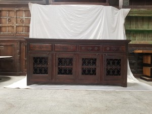 Indian Brass Hand Carved Solid Wooden Beautiful Buffet Cabinet Sideboard 205x51x94cm
