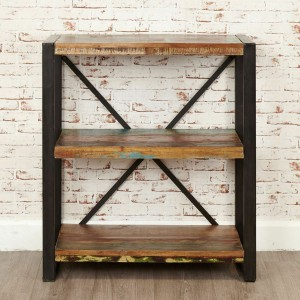 Aspen Reclaimed Wood Industrial small Bookshelf Book case