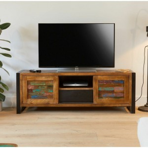 Aspen Reclaimed Wood Industrial TV Entertainment unit 160cm