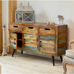 Aspen Scandi Reclaimed Wood Industrial Sideboard Buffet 150cm