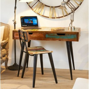 Aspen Scandi Reclaimed Wood Laptop Computer Desk Hall Table