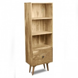 AVALON Solid Wood Large Bookshelf Natural 1.6M