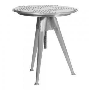 Aviator Aluminium Aviation rivet detail side table lamp stand extendable bedside