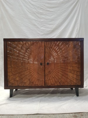 Indian Hand Carved Solid Wooden Beautiful Buffet Cabinet Sideboard 117x44x74cm