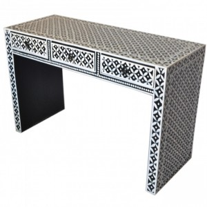 Pandora Bone Inlay Black Hall Table