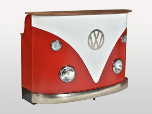 Transport Vintage VW Combi Car Bar Counter Red