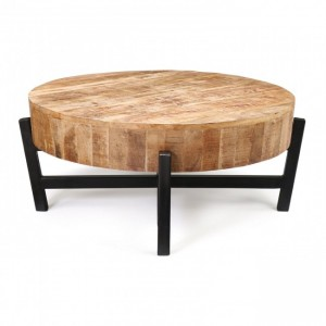 BARN Wood Metal Legs Coffee Table