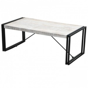 BARN Industrial Coffee Table 120Cm White
