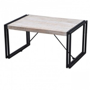 BARN Industrial Coffee Table 90Cm White