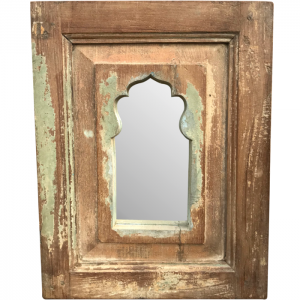 Hand Carved Wooden Small Shabby Chic Mehrab Arch Mirror Frame