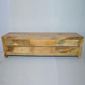 Contemporary Boston Solid Mango Wood TV Unit-Natural-175-45-50