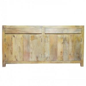 Boston Klean Contemporary Solid Mango Wood Large Sideboard Buffet Hutch
