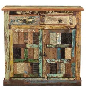 Rainbow Reclaimed 2-door chest of drawers