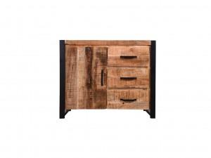Miller Industrial Indian Solid Wood 1 Door Buffet Sideboard With Drawers