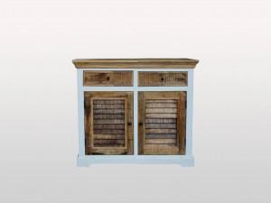 Shutter Indian Solid Wood Buffet Sideboard With 2 Shutter Doors