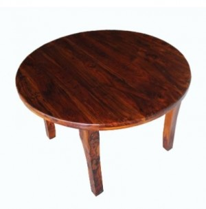 EXTENDING WOODEN TABLE, ROUND COLONIAL 120/160 cm