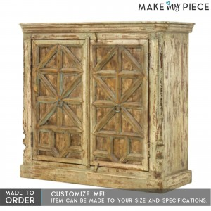 Contemporary Solid Wood X Design Sideboard