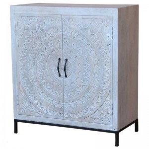 Mandala Hand Carved Chennai Sideboard 42x85x95cm