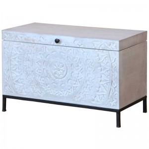 Mandala Hand Carved Chennai Trunk Box 42x85x55cm