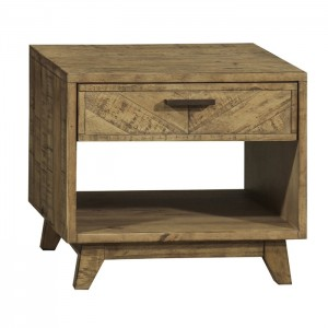 Clovelly designer solid wood Acacia Lamp side table bedside