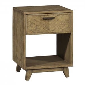 Clovelly designer solid Acacia Lamp side table bedside Tall