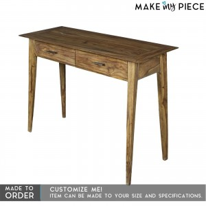 Contemporary NANO Solid wood 2 Drawers Hall Table
