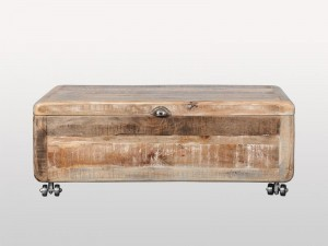 Solid Wooden Shugar Chest Whitewash 109cm