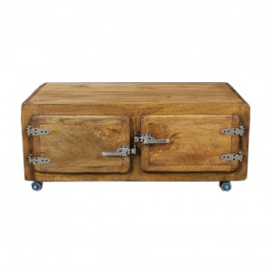Contemporary CROMER Coffee Table on Wheels